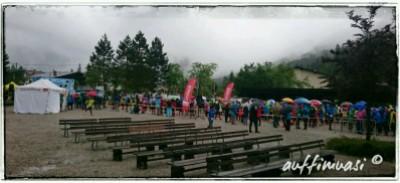 Der strömende Regen am Start war wenig Motivationsfördernd.