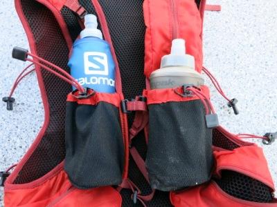 Die Salomonflasks sind zu lang für den Dynafit Enduro 12, mit den Hydrapak gehts besser.