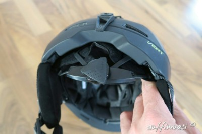 Dank Drehverschluss lässt sich der Helm sehr gut anpassen.