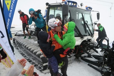 Klaus bei der Ankunft vom Gipfel.