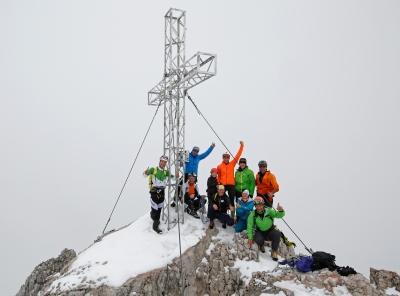 Am Gipfel angekommen. Foto: Herbert Raffalt