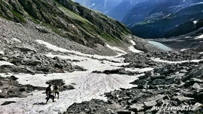 Der Downhill auf dem Schneefeld war der Hammer.