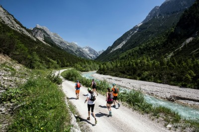 Richtung Karwendelhaus